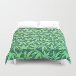 Cannabis / Hemp / 420 / Marijuana  - Pattern Duvet Cover