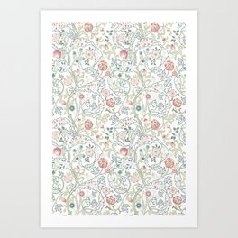 William Morris Pastel Floral Vine Pattern Art Print