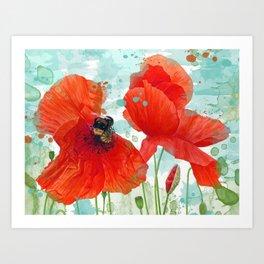 Poppies 02 Art Print