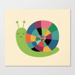 Snail Time Canvas Print