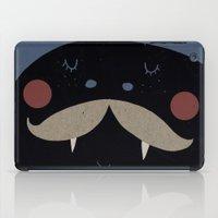 mustache iPad Cases featuring mustache by Maria Dek