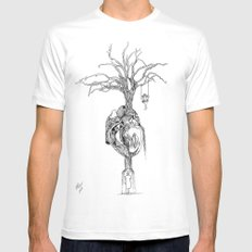Outpouring of the heart White MEDIUM Mens Fitted Tee