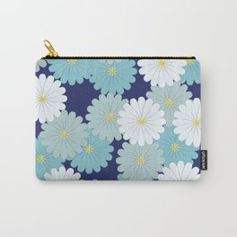 Blue oriental flowers Carry-All Pouch