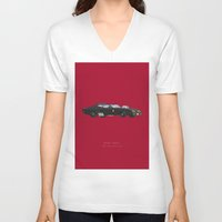 mad max V-neck T-shirts featuring Mad Max | Famous Cars by Fred Birchal