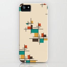 Mid Century Modern Geometric Colorful iPhone Case