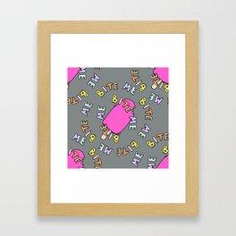 BITE_ME! Framed Art Print