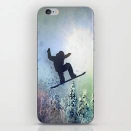 The Snowboarder: Air iPhone Skin