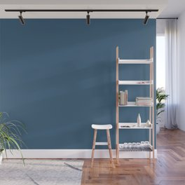 Deep Ocean Blue Inspired by PPG Glidden 2020 Color of the Year Chinese Porcelain Wall Mural