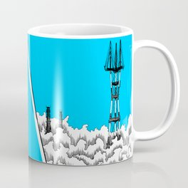 San Francisco - Sutro Tower (blue sky) Coffee Mug