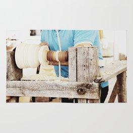 The artisan and the lathe Rug