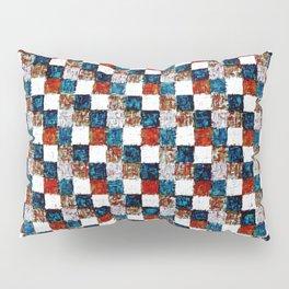 Turquoise Orange Cream Patchwork Pillow Sham