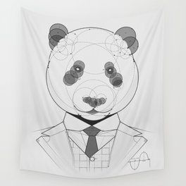 Geometric Panda Wall Tapestry