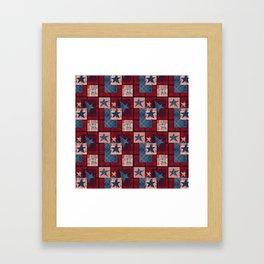 Creative patchwork. Star. The creative pattern. Framed Art Print