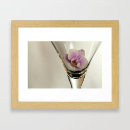 Orchid inside Martini Glass Framed Art Print