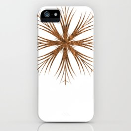 Bronze Snowflake Design iPhone Case