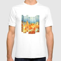 Late Autumn White MEDIUM Mens Fitted Tee