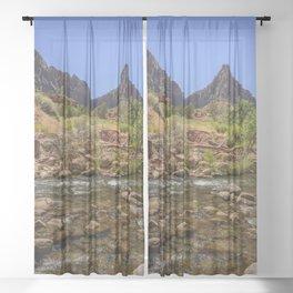 The Watchman & The Virgin 4756 - Zion National Park, Utah Sheer Curtain