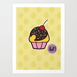 Muffin - CosmoLOL!icious Art Print