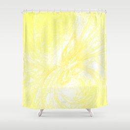 Splatter in Lemonade Shower Curtain