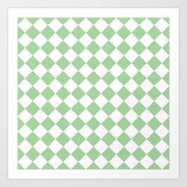Mint Diamond Pattern Art Print