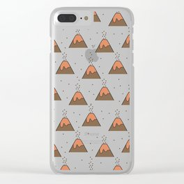 Volcano Pattern #1 Clear iPhone Case
