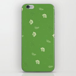 Virgo Pattern - Green iPhone Skin