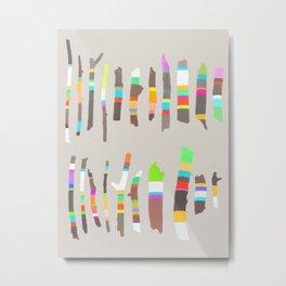 Painted Twigs 2 Metal Print