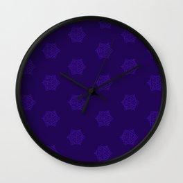 Snowflake I Purple Wall Clock