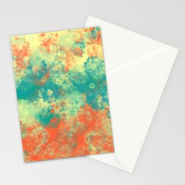Floral print papi Stationery Cards