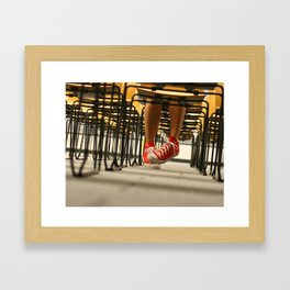 Red Chucks and Chairs Framed Art Print