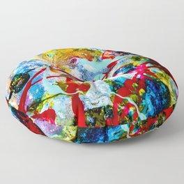 desolidify — break habits — abstract art — experimental Floor Pillow