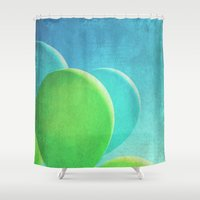 balloons Shower Curtains featuring Balloons by whimsy canvas