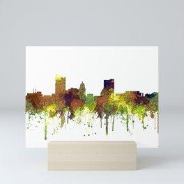Fort Wayne, Indiana Skyline SG - Safari Buff Mini Art Print