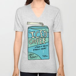 Iced Coffee Juicebox Unisex V-Neck