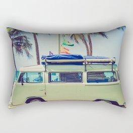 Beach Driving Rectangular Pillow