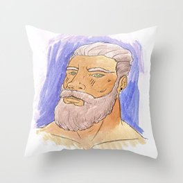 STRONG BEARD Throw Pillow