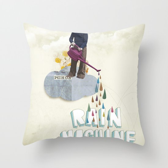 Rain Machine Throw Pillow