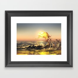 out of water Framed Art Print
