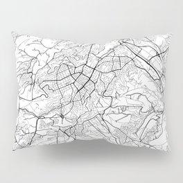 Stuttgart Map White Pillow Sham