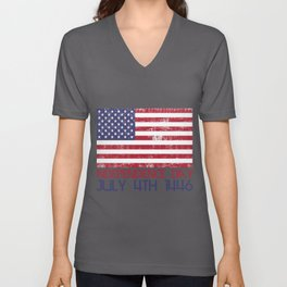 Independence Day July 4th 1446 America Free Gift Unisex V-Neck