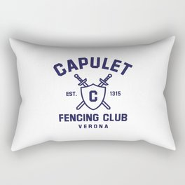 Capulet Fencing Club - Romeo & Juliet Rectangular Pillow