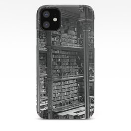 A Book Lover's Dream - Cast-iron Book Alcoves of Leather bound books Old Cincinnati Public Library iPhone Case