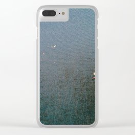 Sticky Leaves Clear iPhone Case