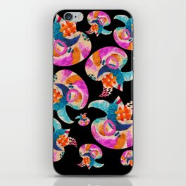 pattern with embroidered lilies iPhone Skin