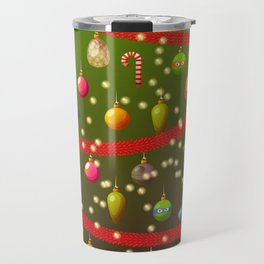 Look at these Christmas decorations! Travel Mug