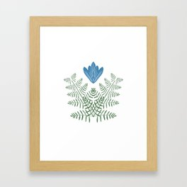 Flower Inspired by Dutch patterns Framed Art Print