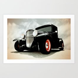 BLACK MODEL T Art Print