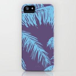 Ultra Violet Palm Print iPhone Case
