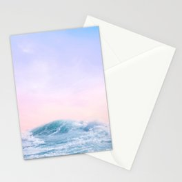 Pink Sunset Blue Wave Paradise Stationery Cards
