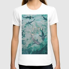 Shoal of Sharks (Color) T-shirt
